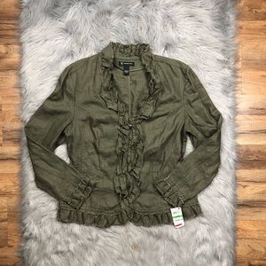 INC International Concepts Olive Green Jacket